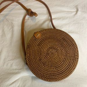 Urban Outfitters Bags - Urban Outfitters Rattan Circle Bag